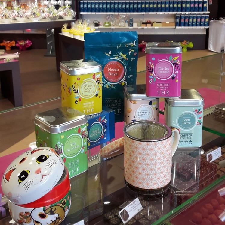 Nouveau rayon thés chez Monbana