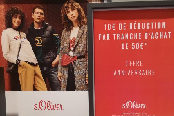 Offre anniversaire S. Oliver