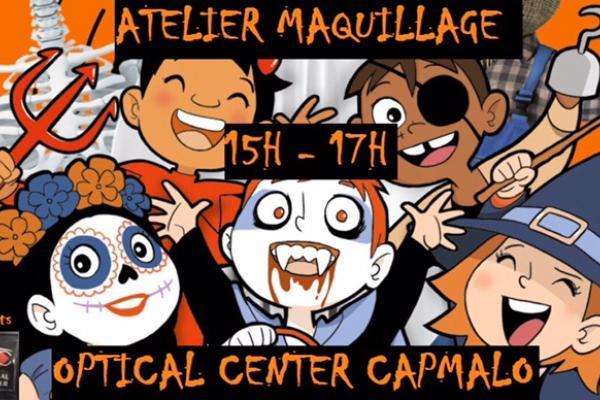MAQUILLAGE HALLOWEEN CHEZ OPTICAL CENTER